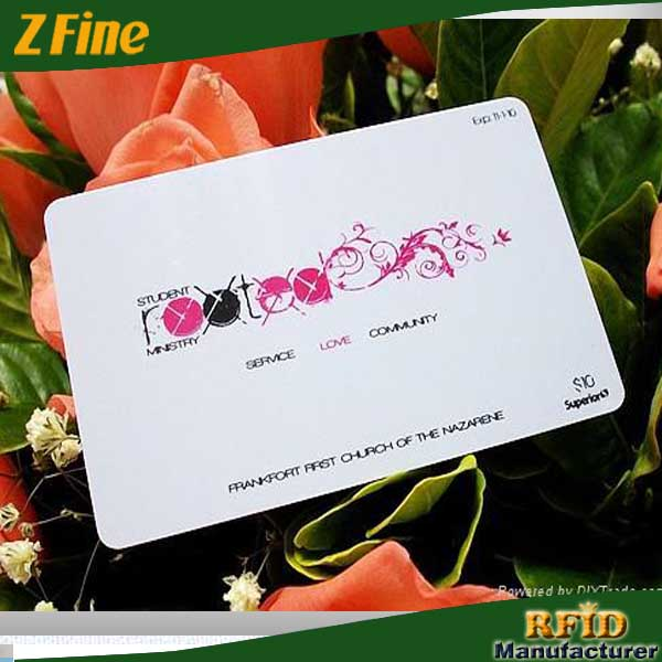 custom frosted pvc name card/full color printing gift card manufacture in shenzhen