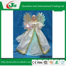 Angel with fiber optic decoration, for Home decoration
