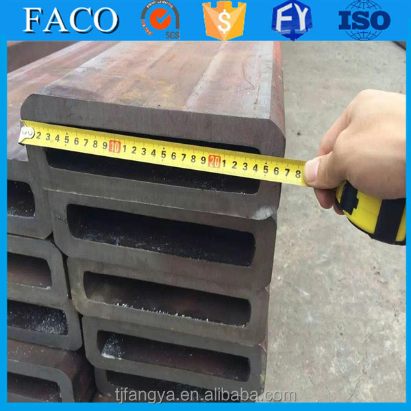 Tianjin square rectangular pipe ! mild steel box section mechanical properties st52.3 steel tube
