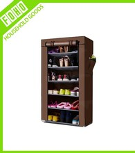 6 Tier Shoe Tower Rack Cabinet Organizer with Cover (FH-FC6007)