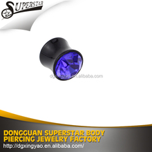 high quality Customizable silicone ear plug for body jewelry