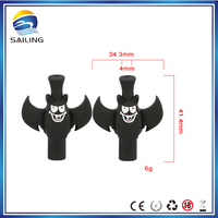 Sailing black drip tip, cute animal drip tip, ecig silicone mouth piece