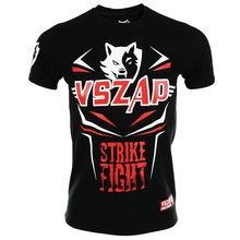 VSZAP STRIKE FIGHT mens Short-sleeved T-shirt Muay Thai mma t shirt Wolf Elasticity Water absorption Quick-drying