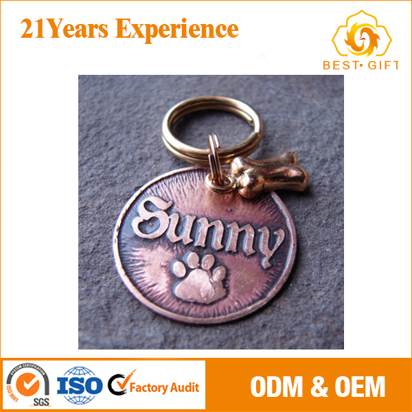 sublimation promotional cheap blank metal dog tag