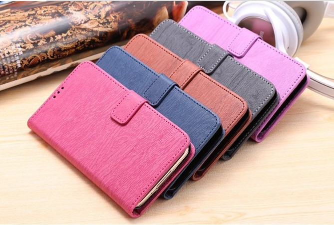 2015 Newest Wood Texture Wallet Flip Cover Leather Case for Samsung Galaxy S6
