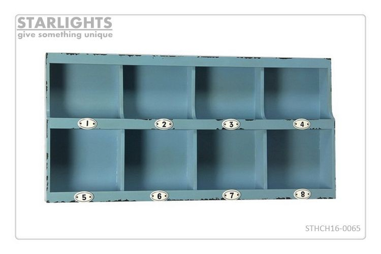 newest decorative wall mounted display cabinet with hooks