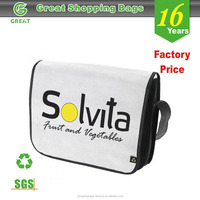 Customized non woven wide strap sports pattern shoulder bag for college students