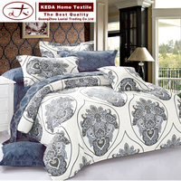2016 European style latest design textiles 100% polyester jacquard bed sheet set