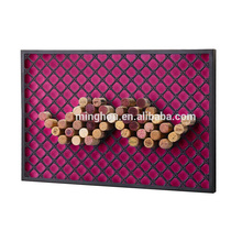 Metal Gridding Wine Corks Rack Cork Storage Holder