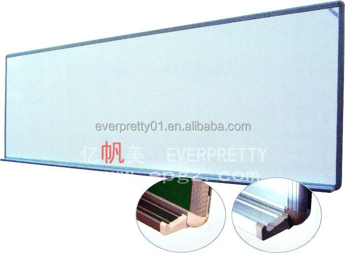 Cheap Classroom Furniture Acrylic White Frame Aluminum Skirting Bulletin Board Optical Frame Boards