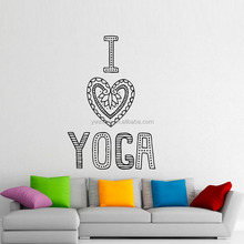 YA486 I Love Yoga Wall Sticker Home Decoration Modern Design Removable Vinyl Art Wall Decals For Living Room