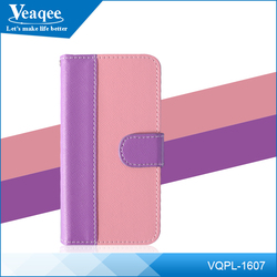 Veaqee 2016 magnetic flip holder phone case wallet leather for iphone 6 6S cell phone cover
