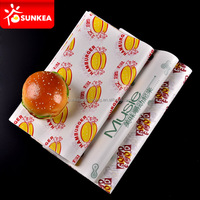 Hamburger sandwich custom printed grease proof paper