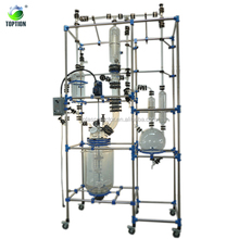CE approved lab mini continuous stirred tank reactor Laboratory 50L Glass Lined Reactor From China