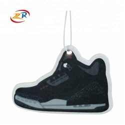 Shoes Shape Custom Promotional Paper Hanging Car Air Freshener