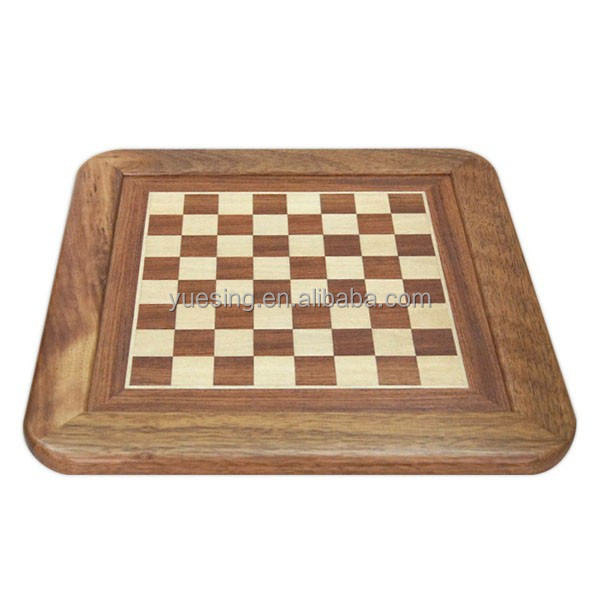 Rosewood and Maple Deluxe Wooden Chess Board Solid Wood Edge Board