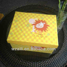 Promotion greeting card packaging boxes cartoon drawer paper box sets wholesale