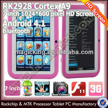 Rk2928 bluetooth rubber protection case kid tablet android