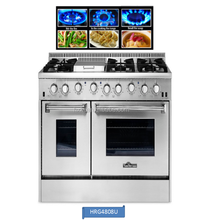 "Hyxion 48"" Professional Gas Ranges With Double Oven Range Images"