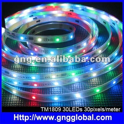 full color dc 5v TM1809 addressable rgb led strip
