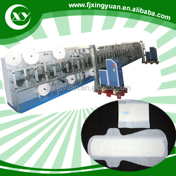 Cheap price Fully automatic sanitary napkins machine,800 pcs/min.500 pcs/min 300 pcs/min