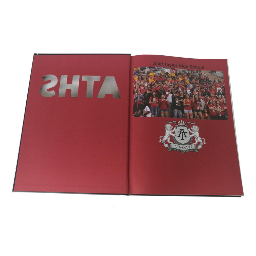offset printing education book / School book printing with die-cut