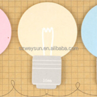 Cute Lamp Bulb Sticky Note