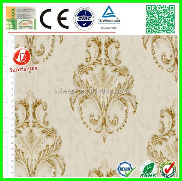 elegant poly cotton european style jacquard fabric for home textile