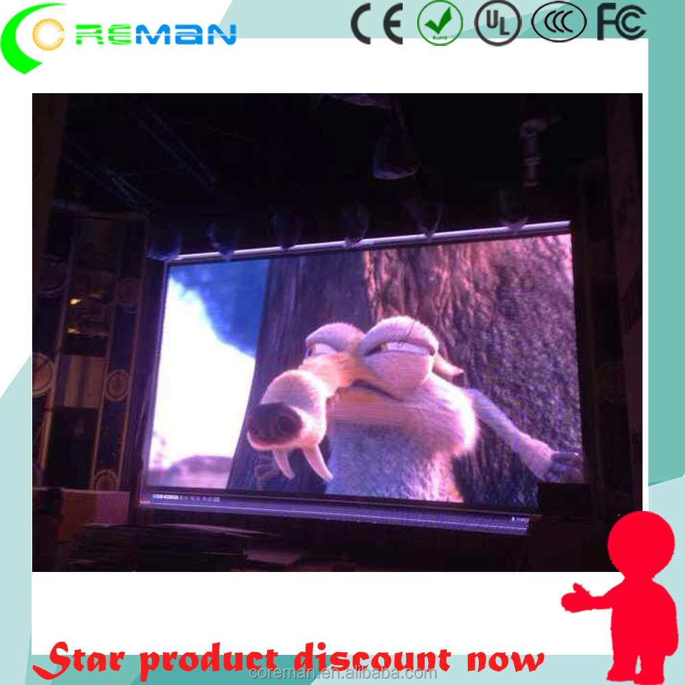 Indoor video lcd advertising display / p2 led screen video wall / led video wall unilumin led screen panel p0.5
