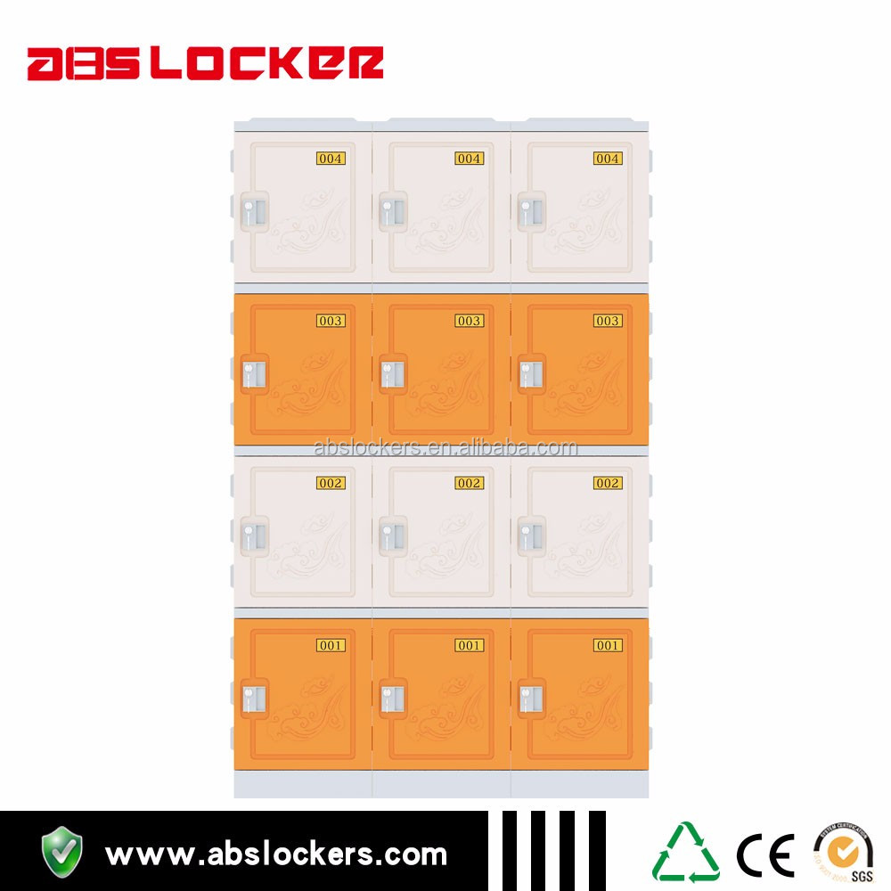China supplier black colors four tires ABS plastic lockers movable cabinet for hospital