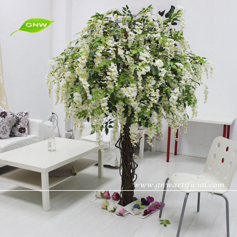 GNW 8ft BLS1603003-B wholesale artificial hydrangea cherry flowers tree for wedding garden home decoration