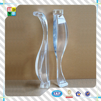 2015 modern design low height 31mm acrylic furniture legs square acrylic sofa legs modern sofa legs