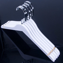 White colored 38cm wooden clothes hanger coat stand