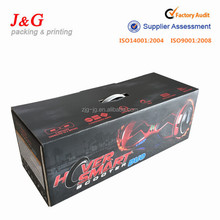 Customize high quality electric self balancing scooter packaging,hover scooter paper packaging,hoverboard packaging box