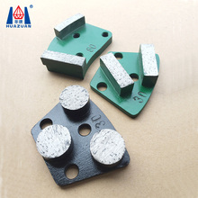 Huazuan concrete floor abrasive diamond grinding shoes plate