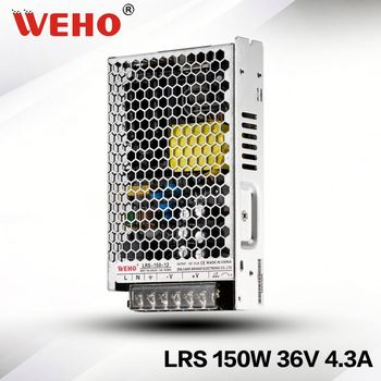 WEHO 2 years warranty LRS-150-36 ultrs thin single output ac/dc 150w 36v universal led power supply