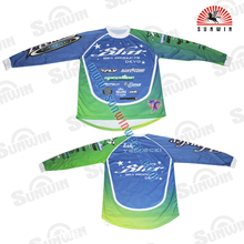 OEM BMX Fluorescent Shirt, MTB Cycling Race Shirt, Dry fit Bicycle Sportswear