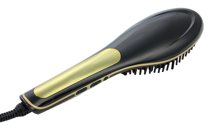 Amazon HOT Wholesale Low Price Professiona custom mini ionic plastic silver heat magic steam electric hair straightener brush