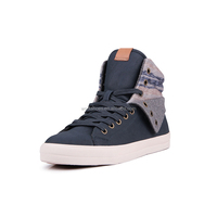 New arrivals OEM high top genuine leather men sneakers