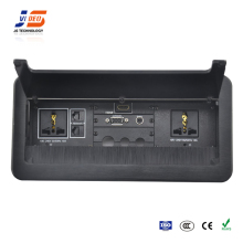 JS-Z300 With VGA HDMI,USB Electrical Power Plug Desktop Socket Connection Box For Conference