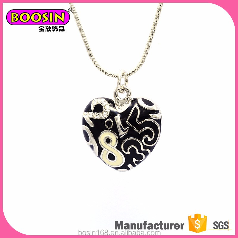 High quality promotion heartbeat necklace jewelry