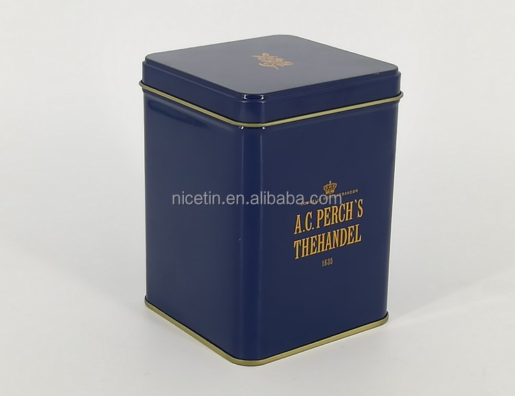 Vertical Square Tea Tin Box