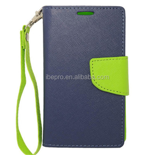 Leather Wallet With Hand Strap Case for Nokia Lumia 521 Fancy Mobile Phone Accessories