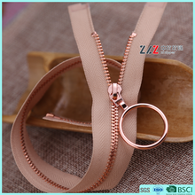 Rose gold Square teeth open end metal zipper