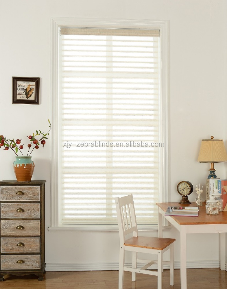 Linent Polyester Shangri-la Blinds Fabric