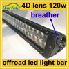 21.5 inch 120w cree military breather 4d led light bar ip68