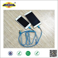 Micro USB &for iPhone 6 USB 2 in 1 zip design data cable for iphone 5 5S 6 6 plus for android