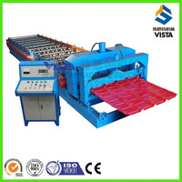 glazed tiles roof cold roll forming machine, antique metal tile making machine