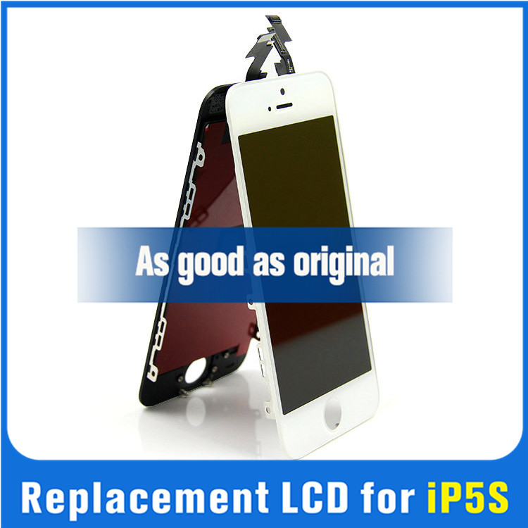 White LCD Lens Touch Screen Display Digitizer Assembly Replacement for iphone 5 motherboard