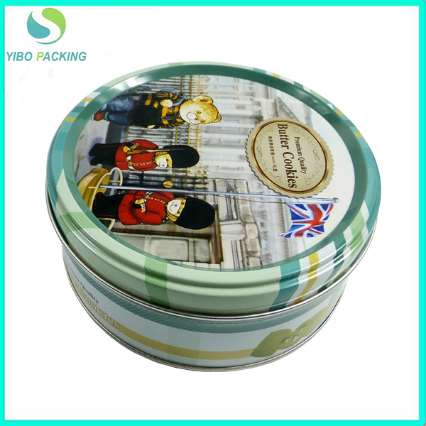 hot sale factory direct sale round metal cookie tin box recycled tin